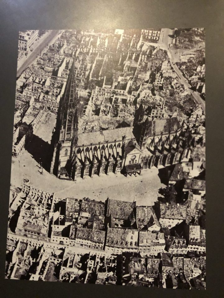 Photo of Freiburg Cathedral, Muenster damaged in WWII