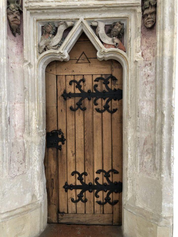 Historic door in Landshut