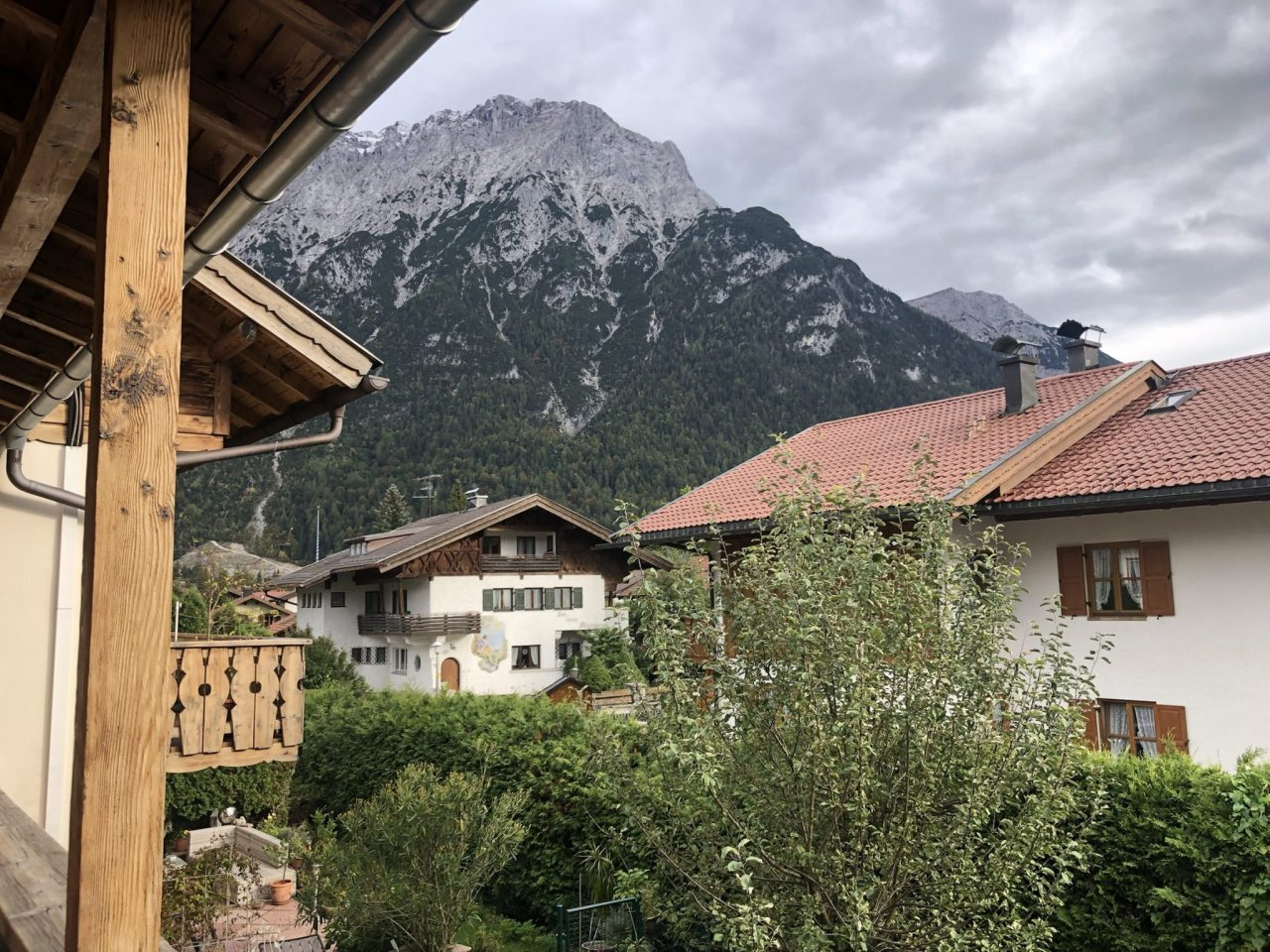 View from my B&B in Mittenwald