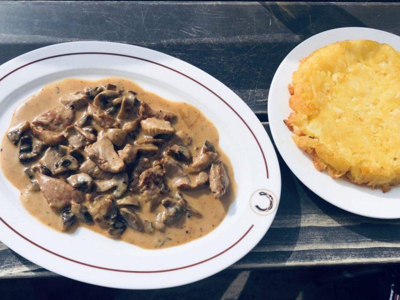Zuerich Geschnetzeltes, Swiss veal dish
