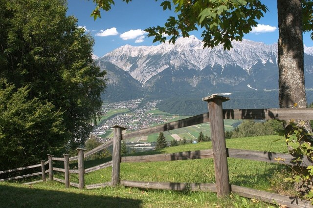 Beautiful view of he Austrian mountains