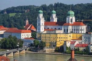 Passau boat ride, Schifffahrt Stephansdom, Cathedral, Passau