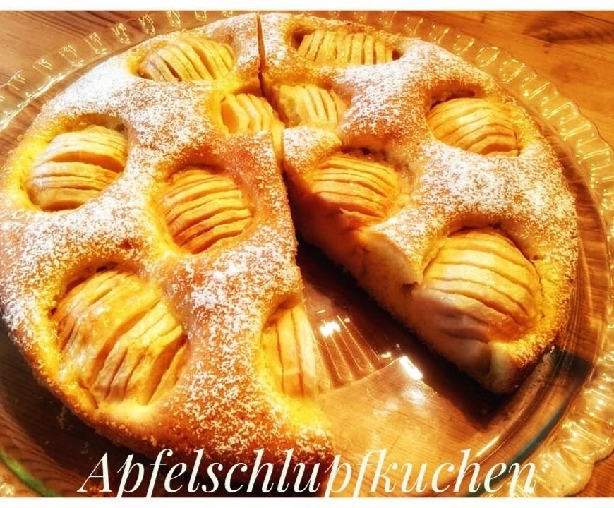 Apfelschlipfkuchen, Sunken Apple cake