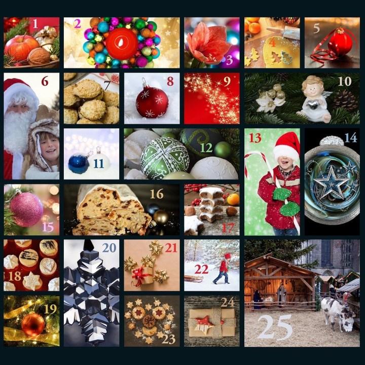 German Christmas calendar with chocolate