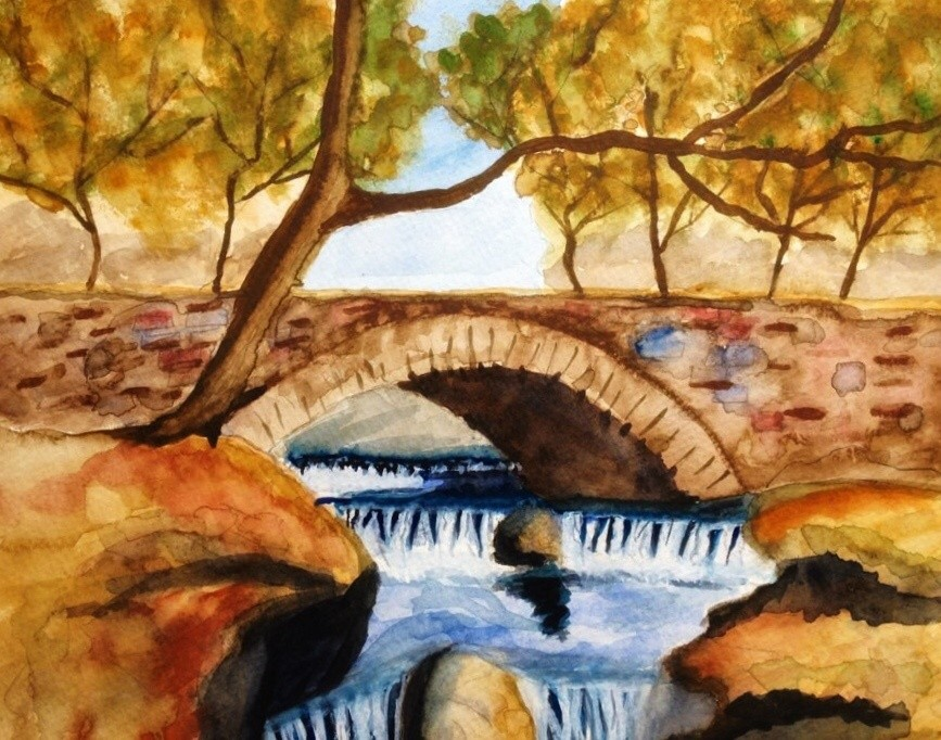 Waterfall painting by GermaniaDesign.com