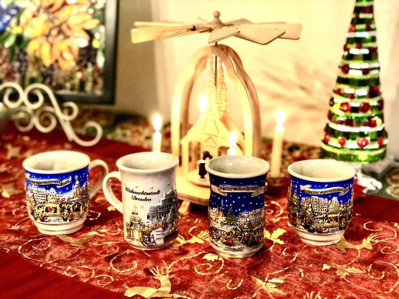 German Gluehwein mugs, Glühwein, Christmas mugs