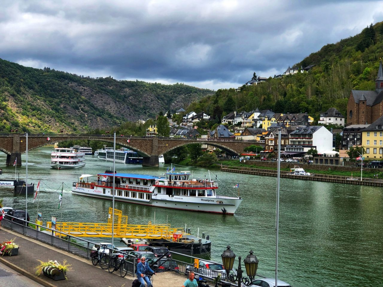 Cochem Mosel Promenade, view to the boats