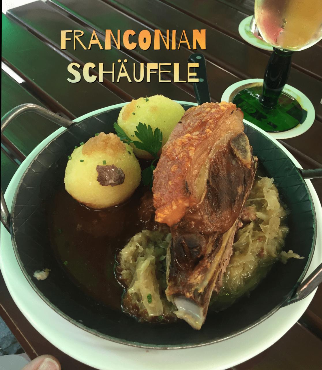 Schäufele, Franconia dish, Wuerzburg, meal