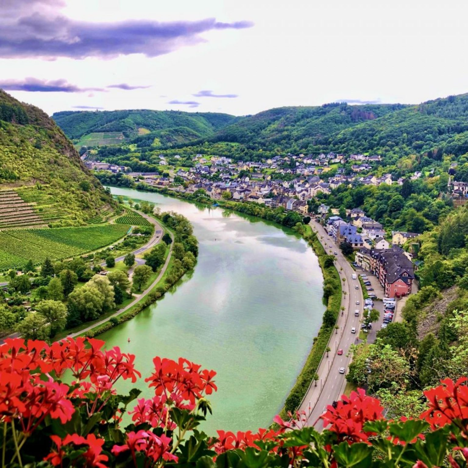 Cochem Castel view to the Mosel River