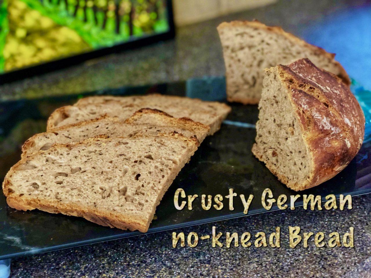 Bake German bread, Crusty farmers bread. Bauernbrot