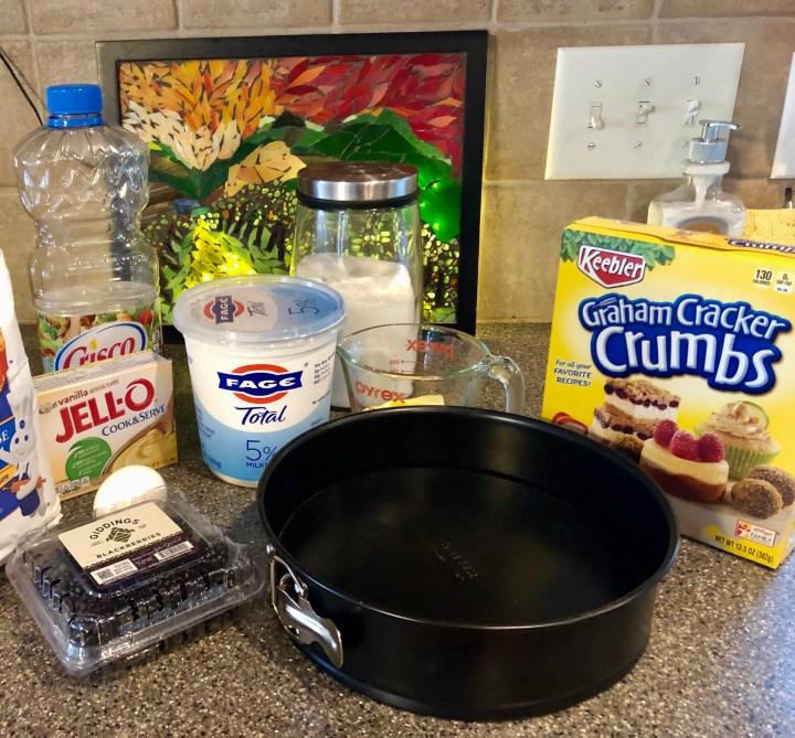 Yoghurt-Fruit cake ingredients