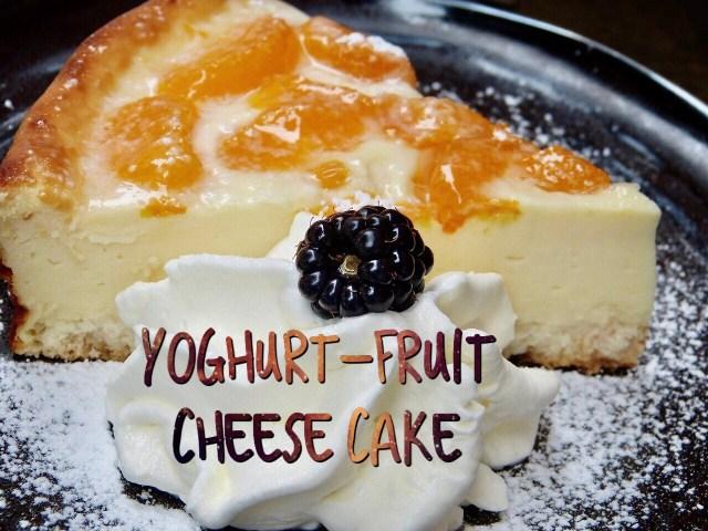 Yoghurt-Fruit cake slice