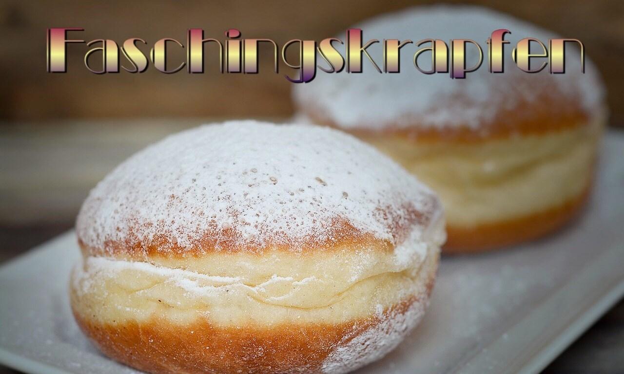 Faschingskrapfen, German Mardi Gras donut