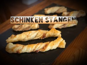 Käse-Schinken Stangen, Cheese-Prosciutto Twists, Parmesan twists