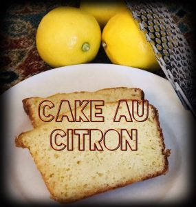 French lemon cake, Cake au Citron