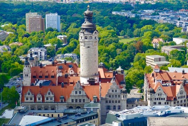 Leipzig city view