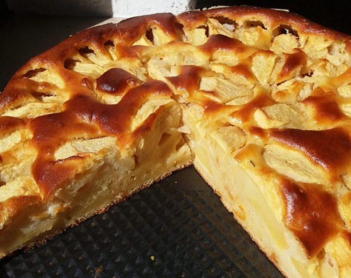 Apfelschlupfkuchen, Sunken Apple cake