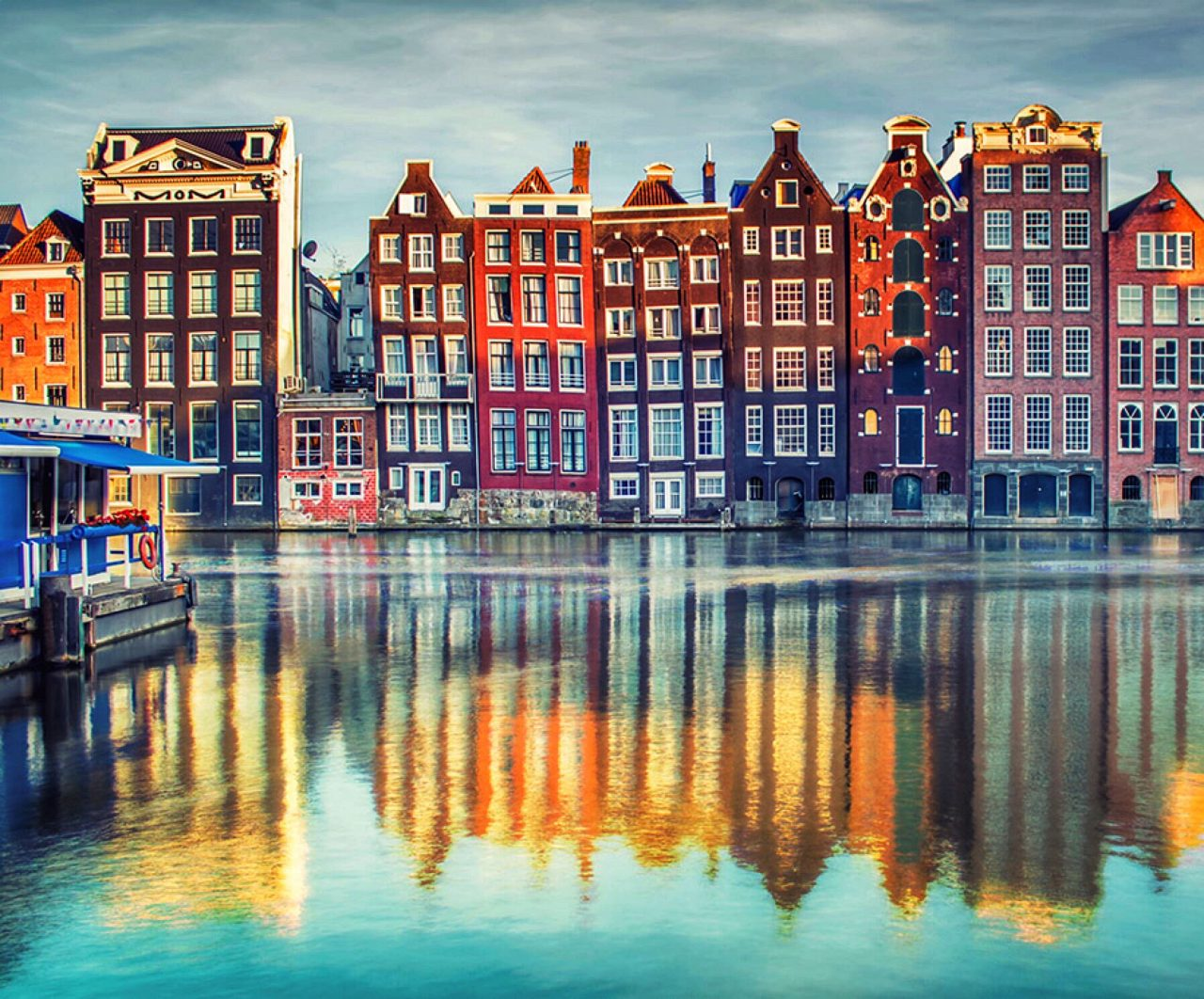 Amsterdam waterfront townhomes