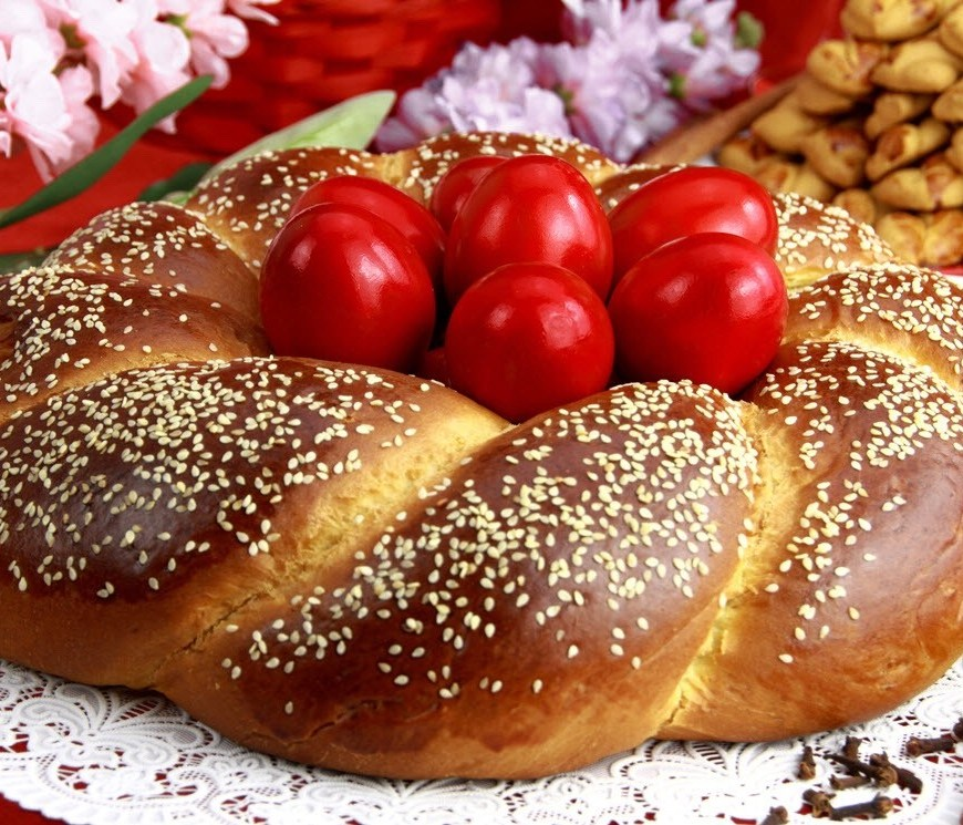 Easter bread, Osterbrot, sweet yeast bread