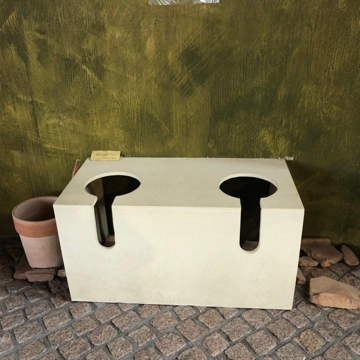 Roman toilette, villa in Ahrweiler, Römervilla
