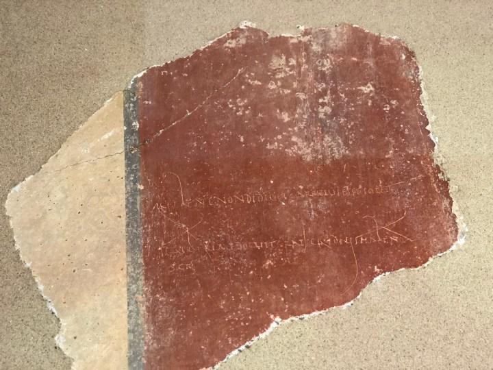 Roman Pupil board, villa in Ahrweiler, Römervilla