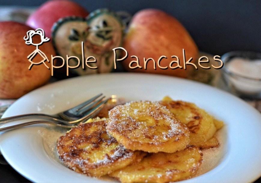 Apple Pancakes, Apfelkräpfchen, Apfelpfannkuchen