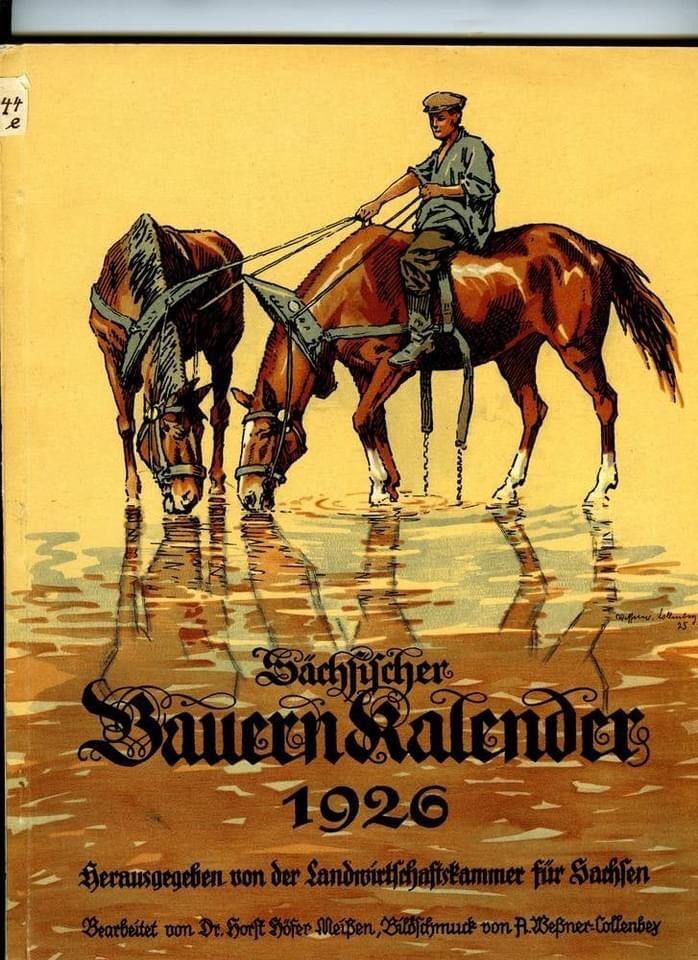 Bauernkalender, German Almanac 1926