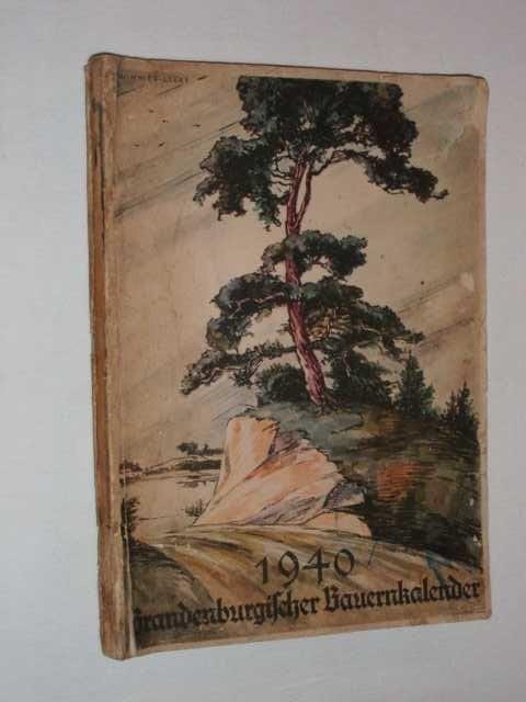 Bauernkalender, German Almanac 1940