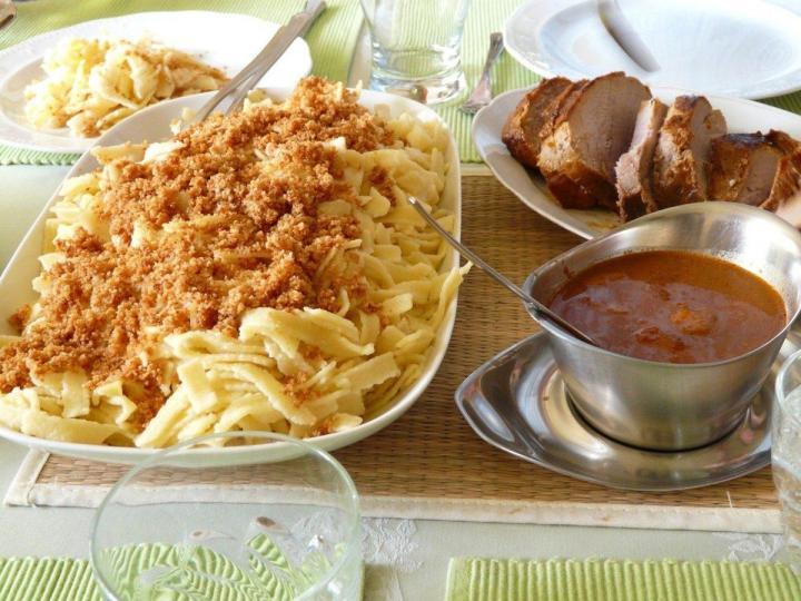 Bavarian Pork Roast, Schweinebraten with Spätzle