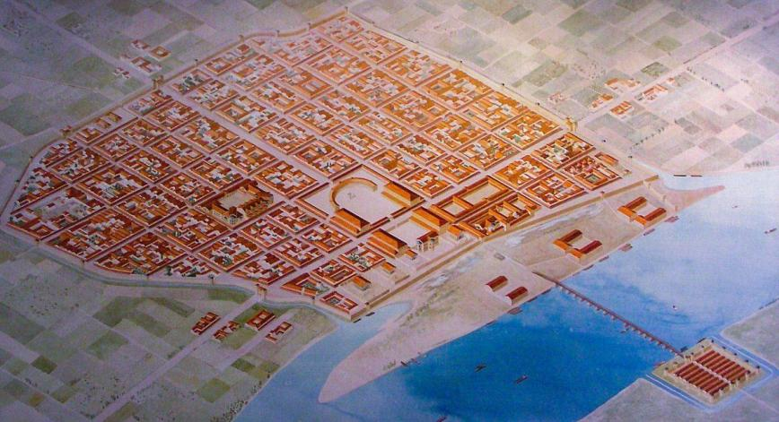 Cologne under Roman Empire 200 a.D, Colonia Claudia Ara Agrippinensium