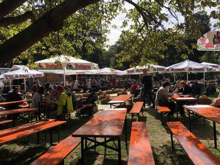 Biergarten at the Pumpkin Festival Ludwigsburg near Stuttgart