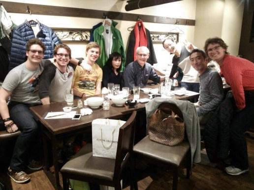 Dinner with Etusko and Motoharu