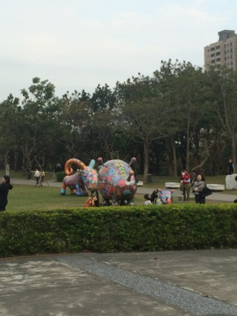 This is in front of the National Art Museum, families are out and about enjoying the holiday together.