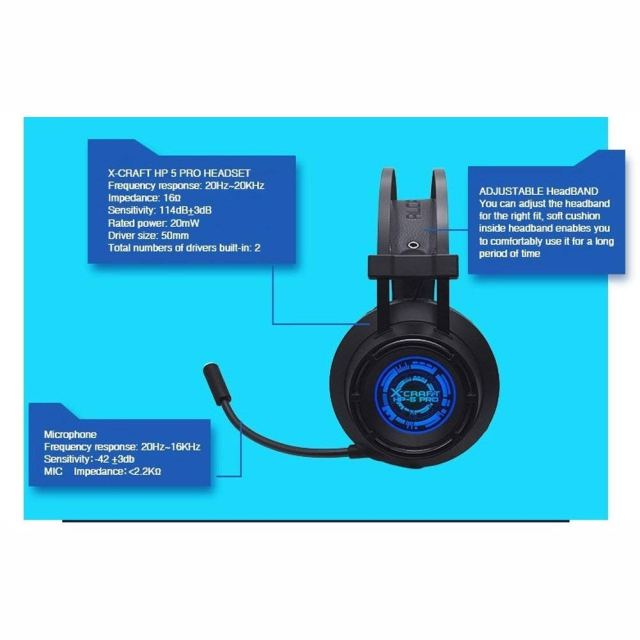 ALCATROZ Gaming HeadSet X-Craft hp-5 – AngkorTech