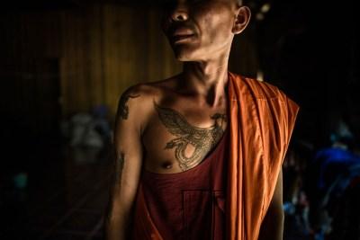 Naga and Buddha, Cambodia by Alessandro Vannucci