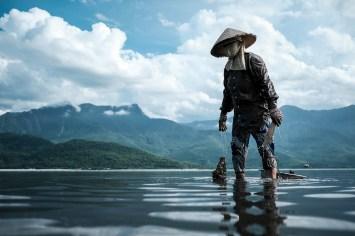 Fishing in Lang Co Lagoon