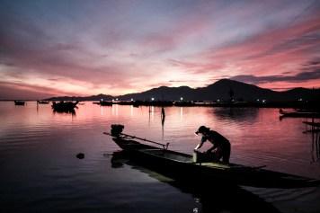 Sunrise at Tam Giang lagoon, Vietnam