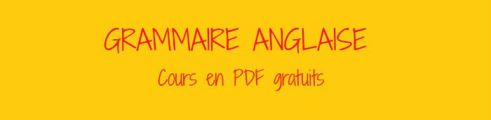 grammaire anglaise pdf
