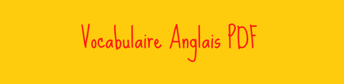 vocabulaire anglais pdf