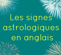Signe astrologique en anglais