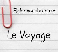 vocabulaire anglais voyage