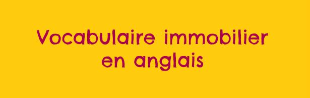 vocabulaire immobilier anglais