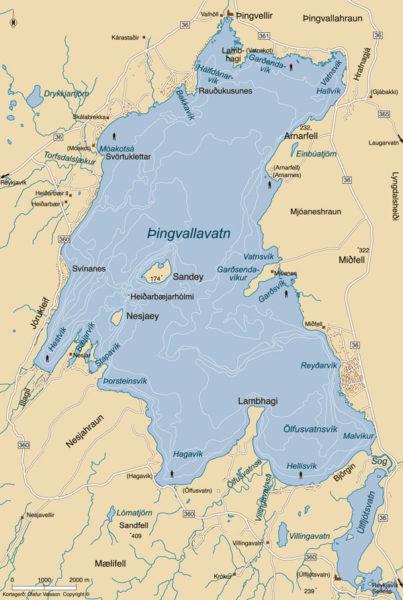 Lake Thingvellir. Lake Thingvallavatn. Fishing at Lake ...