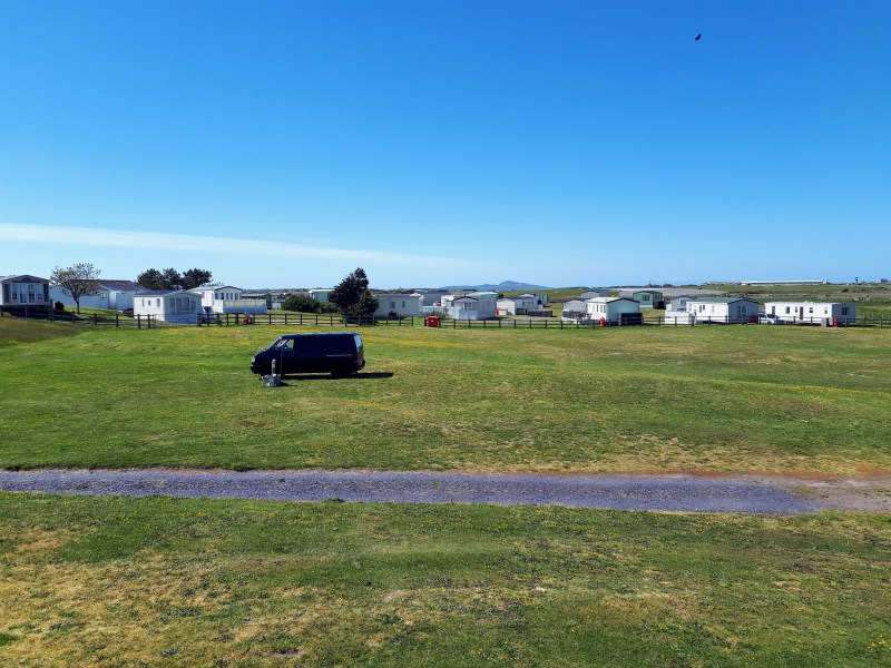 Picture showing part of the caravan and camping site a Shoreside