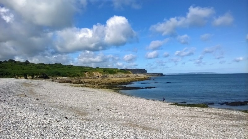 A picture of the shingle beach at Penmon Point