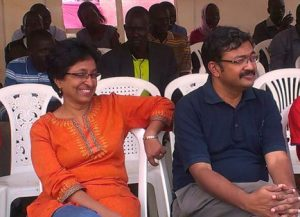 Left to right: Dr Shalini and Dr Anil Cherian