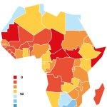 Coronavirus Africa map