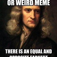 Sir Isaac Newton's Three Laws of Memes
