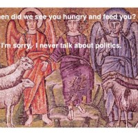 Jesus doesn't 'do' politics