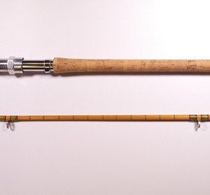 """A good Hardy """"No.1 LRH Spinning"""" 2 piece cane salmon spinning rod,"""
